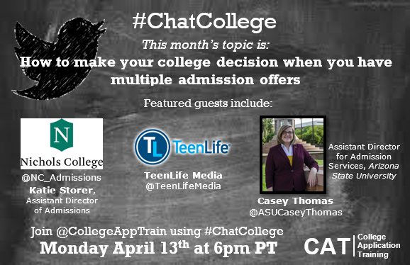 #Chat College: How To Make Your College Decision When You Have Multiple Admission Offers (Recap)